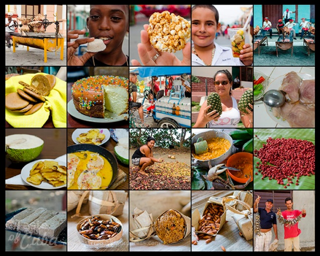 Guantánamo´s typical dishes collage /Collage con platos típicos de Guantánamo.