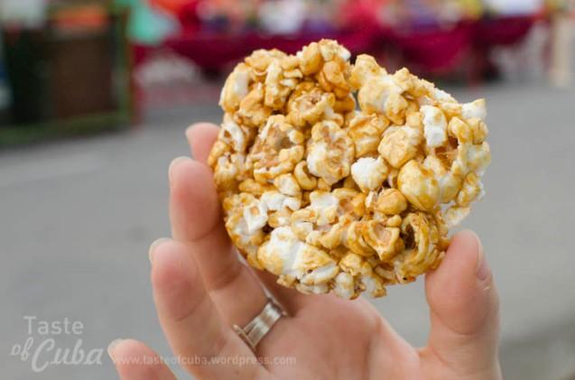 Popcorn praline / Rosita de maíz garapiñada