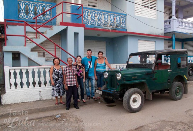Frida and I with Rebeca´s family on Baracoa.