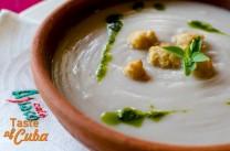 Crema de malanga. Restaurante Café Ajiaco