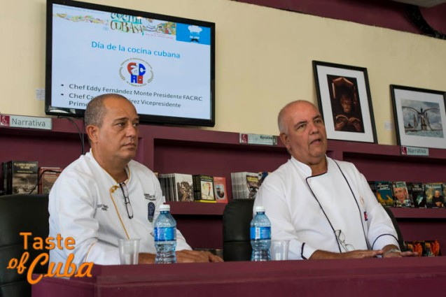 Eddy Fernández y Carlos Otero Pérez, Presidente y Vicepresidente primero, respectivamente, de la Federación Nacional de Asociaciones Culinarias
