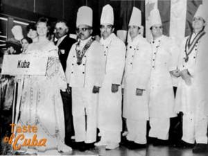Grupo de chef cubanos que participó en las Olimpiadas Culinarias de 1984. Al frente el chef Gilberto Smith